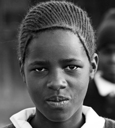 Jacqueline is a 14-year-old student in Kenya. Both her parents died of AIDS. Photo: Alex Stonehill