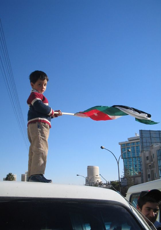 PHOTO: FLICKR/ROBA  A little boy joins fellow protesters in Jordan, demanding changes for his people's future.