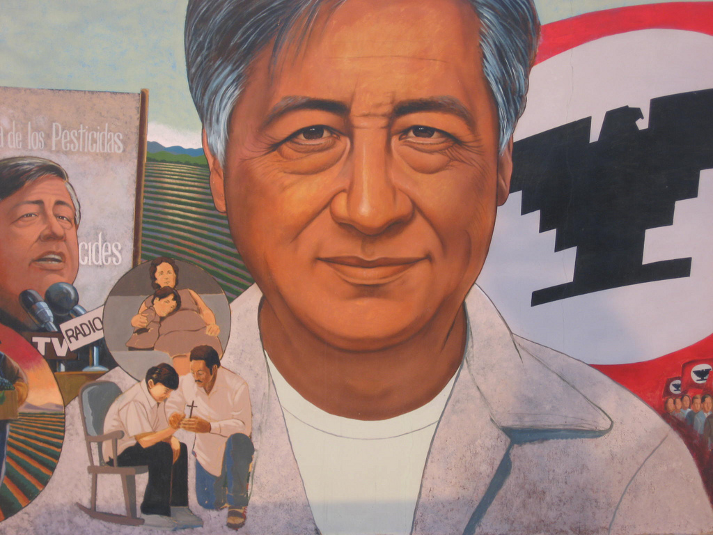 Mural in honor of Cesar Chavez. PHOTO: Salina Canizales