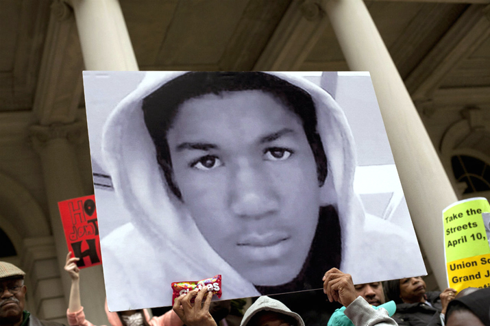 Protests broke out across the country in response to the verdict in the trial over the killing of 17-year-old Trayvon Martin by George Zimmerman. PHOTO: Unknown