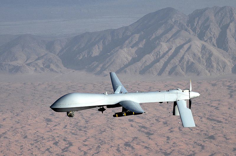 An Unmanned Aerial Vehicle, or drone. PHOTO: U.S. Air Force/Lt Col Leslie Pratt