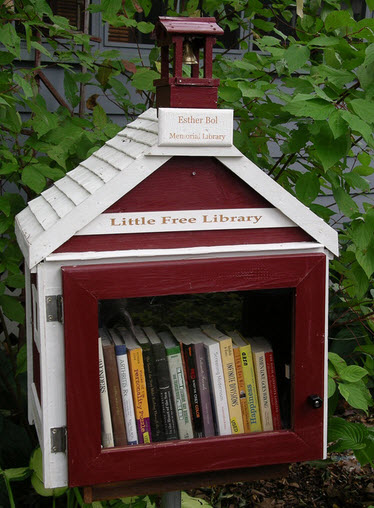The first Little Free Library created by Todd Bol in Wisconsin. PHOTO: Lisa Colon DeLay