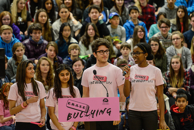 Students in British Columbia, Canada work together to end bullying in their schools and communities. PHOTO: BC Gov Photos