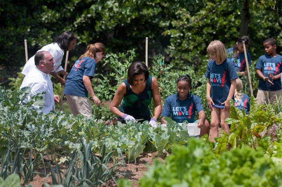 """At the launch of """"Let's Move,"""" Obama stated that she aimed to solve the problem of childhood obesity within a generation. PHOTO: Sodexo USA/Flickr"""