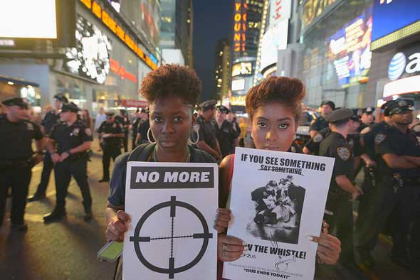 Data from The Counted shows that twice as many unarmed African Americans have been killed by police than unarmed whites or Hispanics. PHOTO: Debra Sweet/Flickr