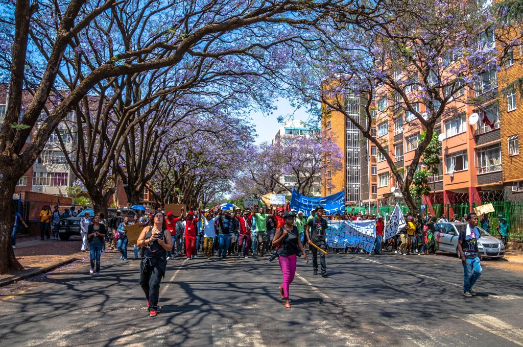 Protesters demand fair access to affordable education in Pretoria, South Africa. PHOTO: Paul Saad/Flickr