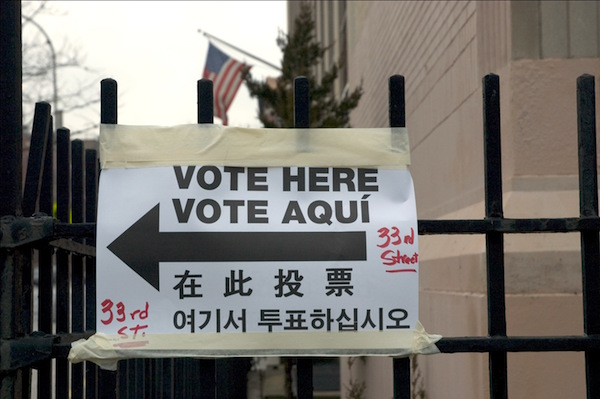 In the face of Donald Trump's anti-immigrant positions, activists hope to drive Latino voters to the polls this November. PHOTO: Kim Bost/Flickr