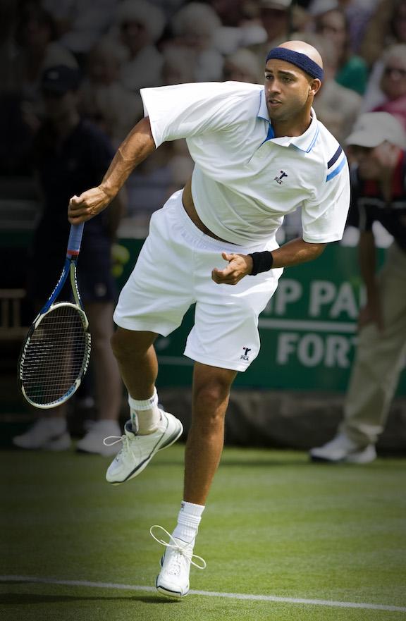Tennis player James Blake. Wikimedia Commons / Ray Giubilo