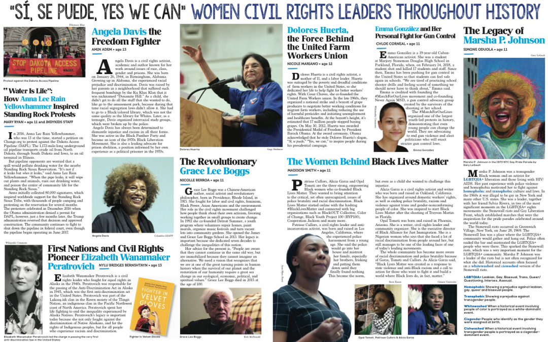 """""""Sí, Se Puede, Yes We Can"""" Women Civil Rights Leaders Throughout History"""