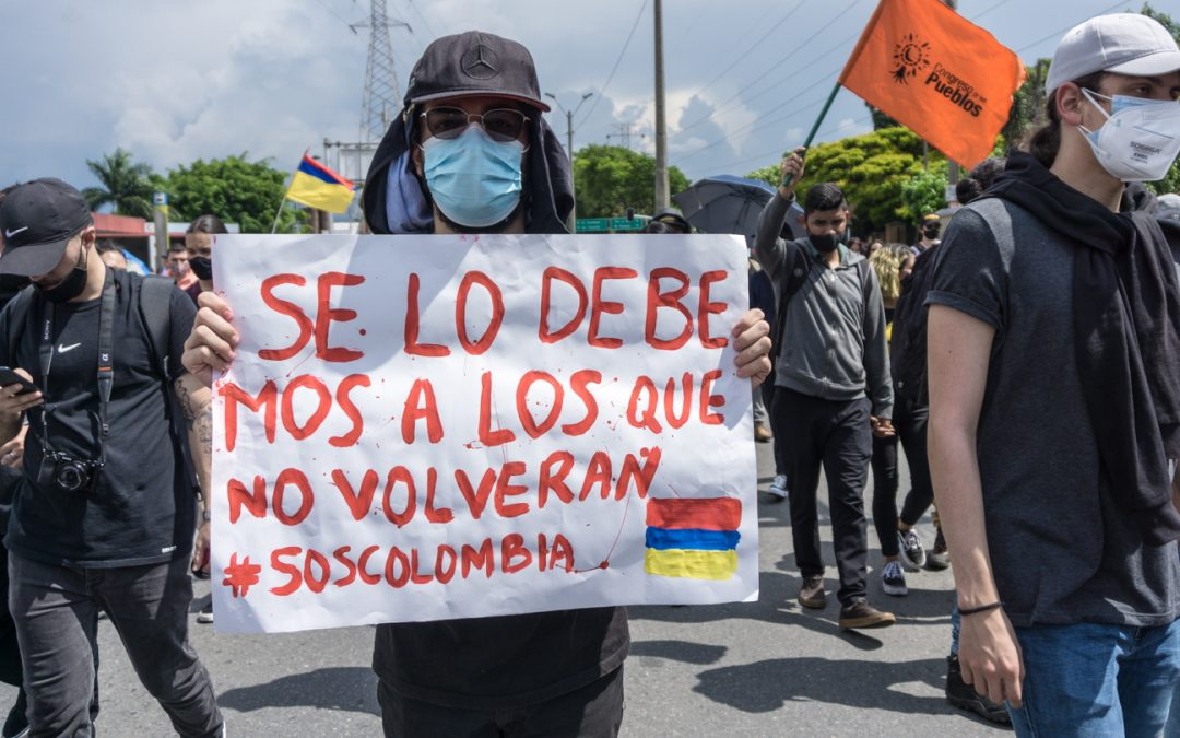 """""""People Are Not Scared Anymore"""": Colombians Protest Tax Hike in Ongoing Pandemic"""